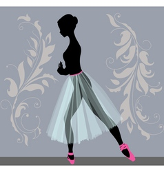 Young ballerina vector
