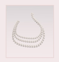 Elegant pearl necklace vector