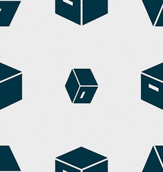 Packaging cardboard box icon sign seamless pattern vector