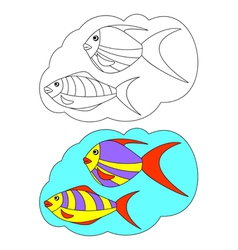The picture for coloring Fish vector image
