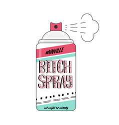 90s bitch spray comic funny vector image