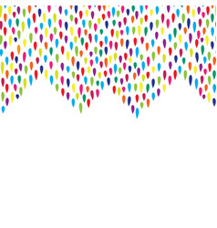 abstract droplet tiled border pattern spot vector image vector image