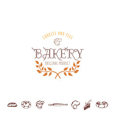 badge for small businesses - sweet bakery the vector image vector image