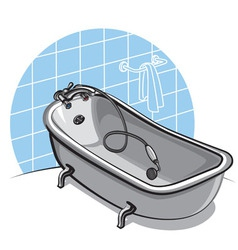 bathtub vector image