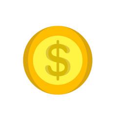 coins money gold icon design cartoon cash circle vector image