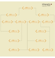 Corporate organization chart vector
