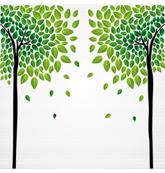 Cute concept trees vector