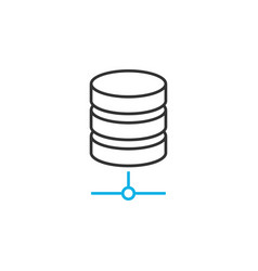 Database line icon vector