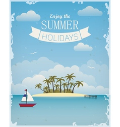 Enjoy the summer vector image vector image