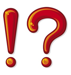 Exclamation point and a question mark vector