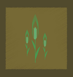 Flat shading style natural triticum vector