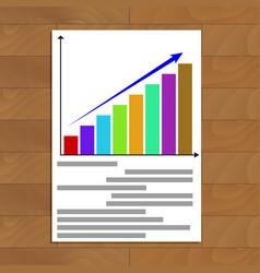 Growing statistics chart vector