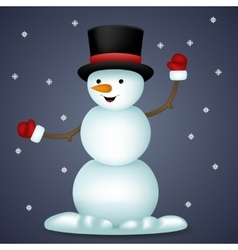 Happy Cartoon Snowman New Year Toy Character Icon vector image vector image