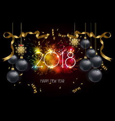 Happy new year 2018 background with christmas vector