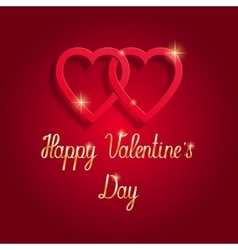 Happy valentine s day beautiful greeting card vector