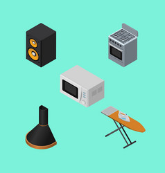 isometric electronics set of air extractor vector image vector image