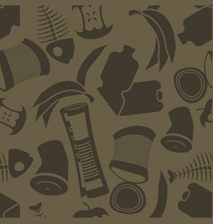 Litter background rubbish seamless pattern vector