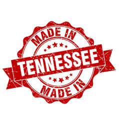 made in tennessee round seal vector image