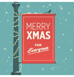 merry christmas for everyone vector image