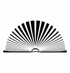 Opened book with pages fluttering vector