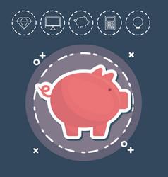 Piggy bank fintech investment financial internet vector