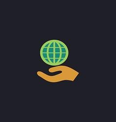 Save earth computer symbol vector
