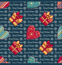 Seamless pattern merry christmas toy vector