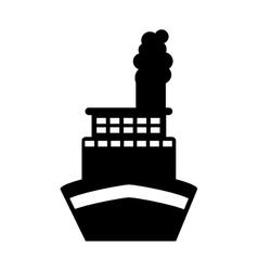Ship boat transport isolated icon vector