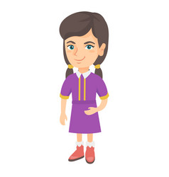 smiling little caucasian kid girl vector image