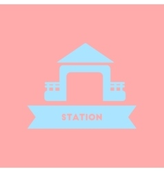 Station building vector