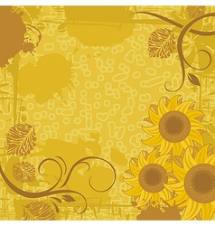Sunflower Background vector image vector image