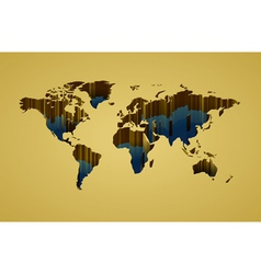World map with 3d-effect vector image