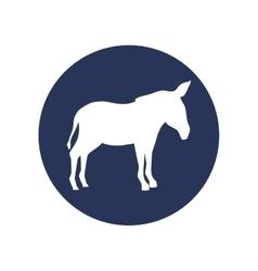 donkey animal silhouette vector image