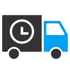 Shipment schedule van flat icon vector