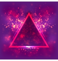 Abstract light background luminous triangular vector image