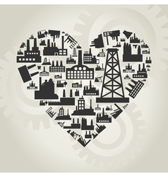 Industries of heart vector