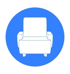 Cinema armchair icon in black style isolated on vector image