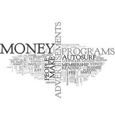 Is there a simple method to make money text vector