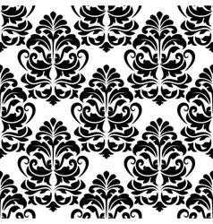Heavy arabesques seamless pattern vector