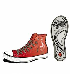 Music shoe vector