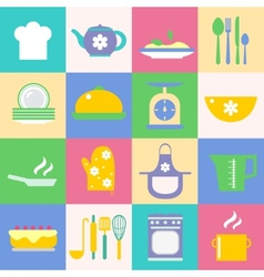 Cuisine and kitchen icons set vector