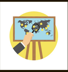 Projector screen map vector