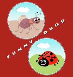 funny bugs vector image
