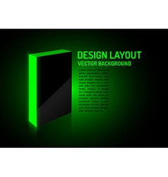 design box green vector image
