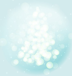 Christmas background with lights image vector