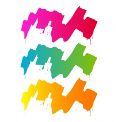 Splash and paint colorful vector
