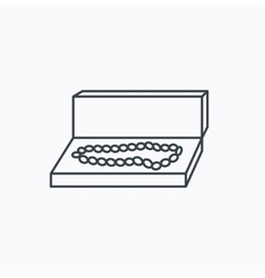 Jewellery box icon Luxury precious sign vector image