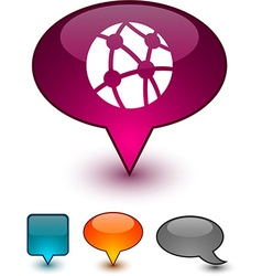 Network speech comic icons vector