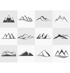 Mountains emblems vector