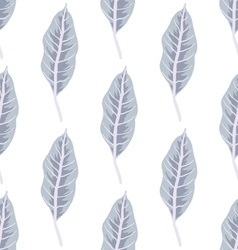 Trendy seamless pattern with forest plants vector